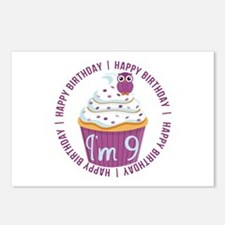 9th Birthday Cupcake Postcards (Package of 8)