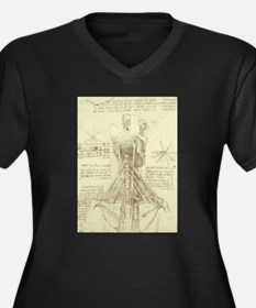 Spinal Column by Leonardo da Vi Plus Size T-Shirt