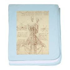 Spinal Column by Leonardo da Vinci baby blanket
