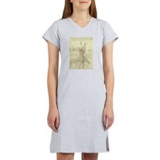 Spinal Column by Leonardo da V Women's Nightshirt