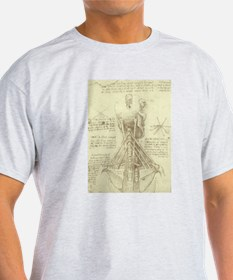 Spinal Column by Leonardo da Vinci T-Shirt
