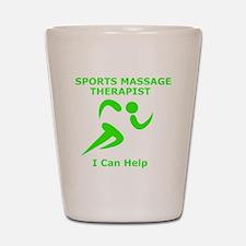 Massage Therapist Eye Catching Design Shot Glass