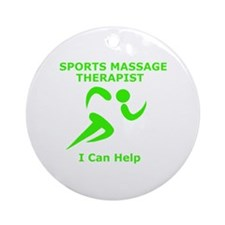 Massage Therapist Eye Catching Desi Round Ornament