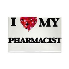 I love my Pharmacist hearts design Magnets