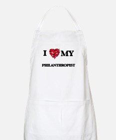 I love my Philanthropist hearts design Apron