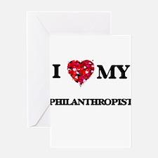 I love my Philanthropist hearts des Greeting Cards