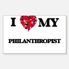 I love my Philanthropist hearts design Decal