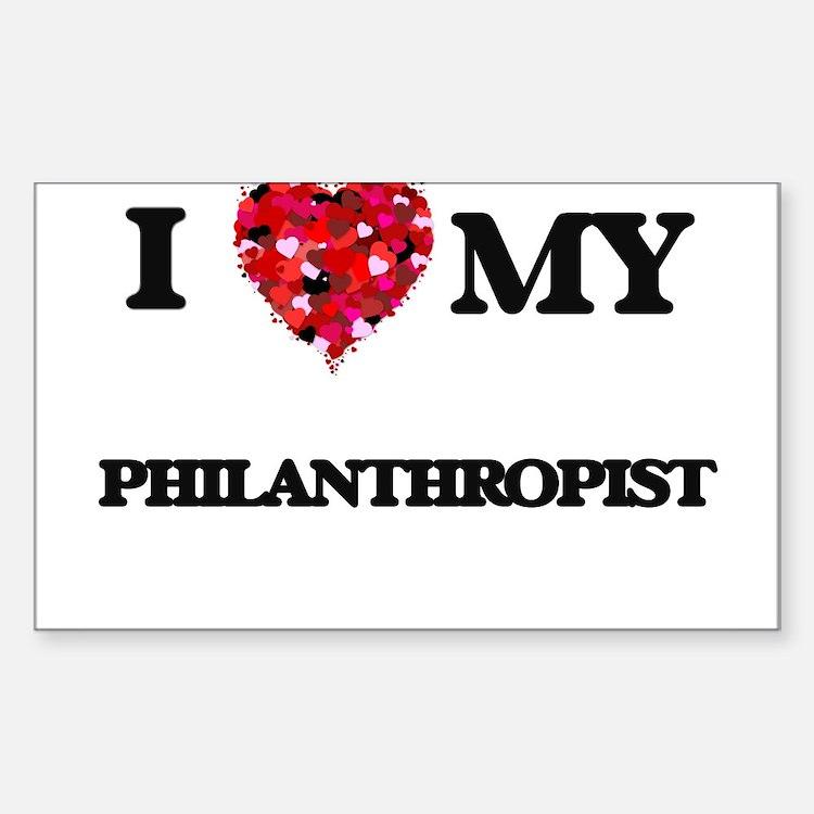 I love my Philanthropist hearts design Decal