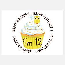 12th Birthday Cupcake Invitations