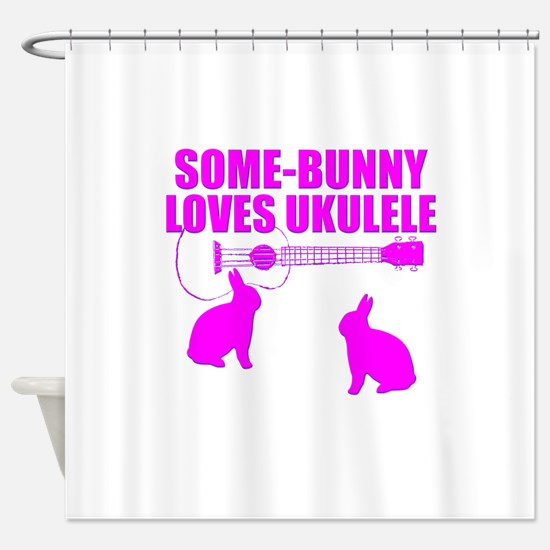 Easter Ukulele bunny Shower Curtain