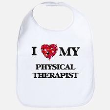 I love my Physical Therapist hearts design Bib