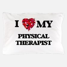 I love my Physical Therapist hearts de Pillow Case