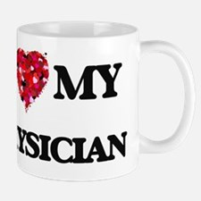 I love my Physician hearts design Mug