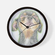 Black and Tan Chihuahua Dog Wall Clock