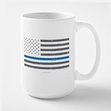 Law Enforcement Blue Line Flag Mugs