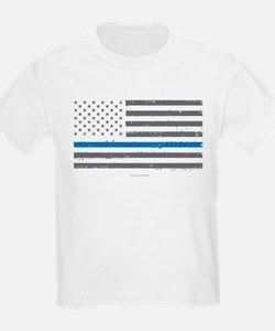 Law Enforcement Blue Line Flag T-Shirt