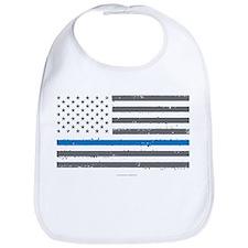 Law Enforcement Blue Line Flag Bib