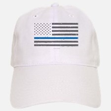 Law Enforcement Blue Line Flag Baseball Baseball Cap