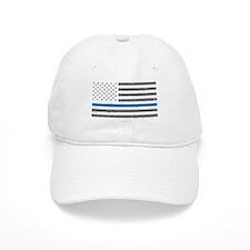Law Enforcement Blue Line Flag Baseball Cap