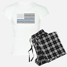 Law Enforcement Blue Line F Pajamas