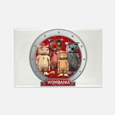 Wombies' Red Group Portrait Rectangle Magnet