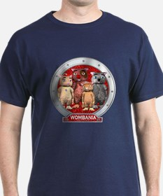 Wombies' Red Group Portrait T-Shirt Dark Colored
