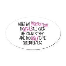 Pitch Perfect Inspiration Oval Car Magnet