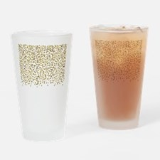 Gold Confetti Dots Drinking Glass