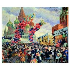 Kustodiev - Fair on Red Square, Moscow Poster