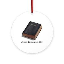 Jesus Dies Ornament (Round)