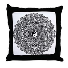 Cute Black and white Throw Pillow
