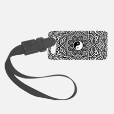 Yin and Yang Flower Mandala Luggage Tag