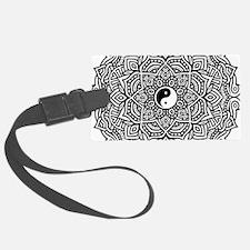 Yin and Yang Flower Mandala Luggage Tag