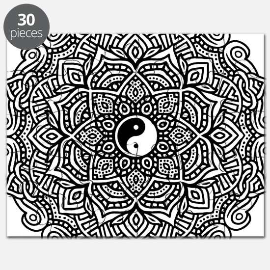 Yin and Yang Flower Mandala Puzzle