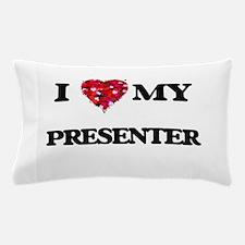 I love my Presenter hearts design Pillow Case