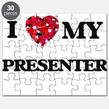 I love my Presenter hearts design Puzzle