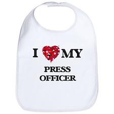 I love my Press Officer hearts design Bib