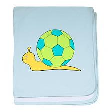 Soccer Snail baby blanket