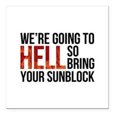 "Entourage: Going To Hell Square Car Magnet 3"" x 3"""