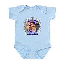 Wombies' Blue Group Portrait Infant Bodysuit