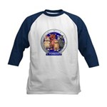Wombies' Blue Group Portrait Kids Baseball Jersey