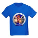 Wombies' Blue Group Portrait Kids Dark T-Shirt