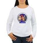 Wombies' Blue Group Portrait Women's Long Sleeve T
