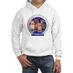 Wombies' Blue Group Portrait Hooded Sweatshirt