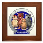 Wombies' Blue Group Portrait Framed Tile