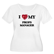 I love my Props Manager hearts d Plus Size T-Shirt