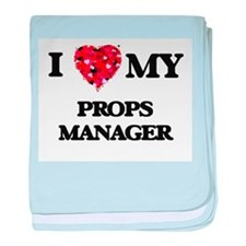I love my Props Manager hearts design baby blanket