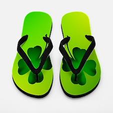 Irish Clover Flip Flops