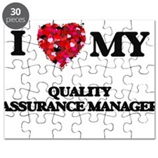 I love my Quality Assurance Manager hearts Puzzle