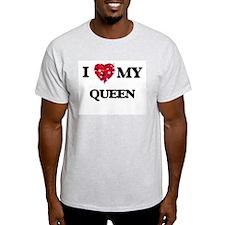 I love my Queen hearts design T-Shirt